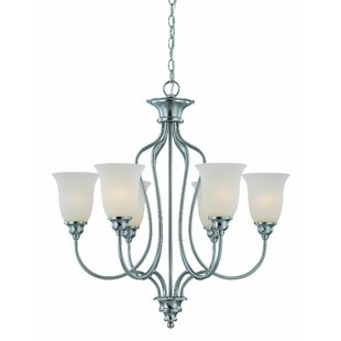Charlemont 6-Light Shaded Chandelier By Fleur De Lis Living