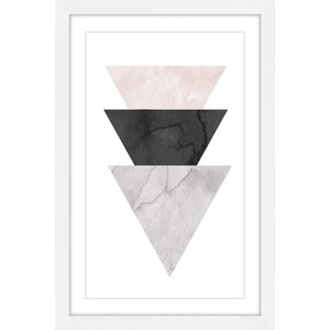 'Triangle Stack' by Diana Alcala Framed Painting Print by Marmont Hill