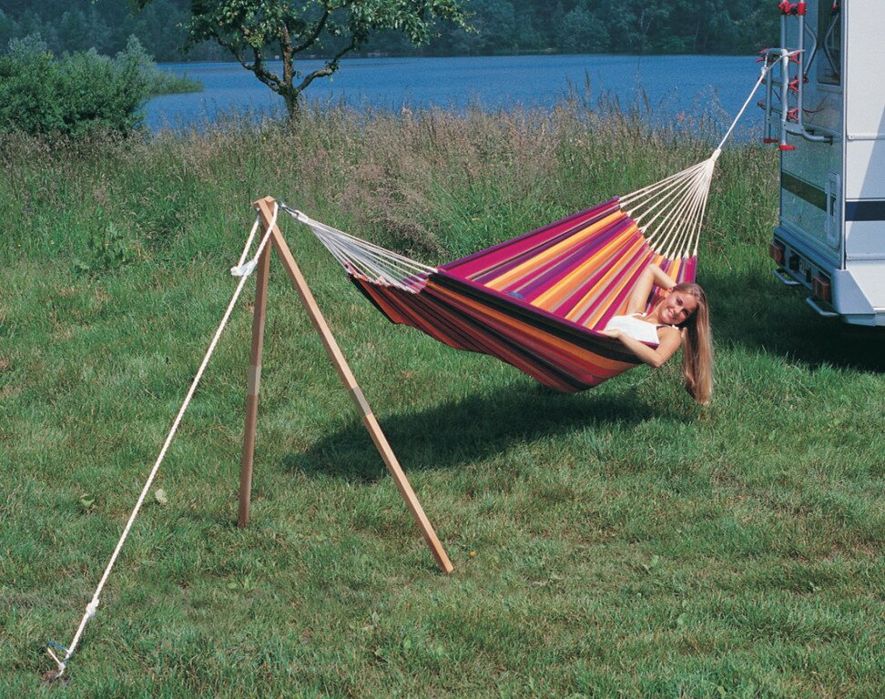 default_name - Byer Of Maine Madera Wood Standard Hammock Stand Wayfair
