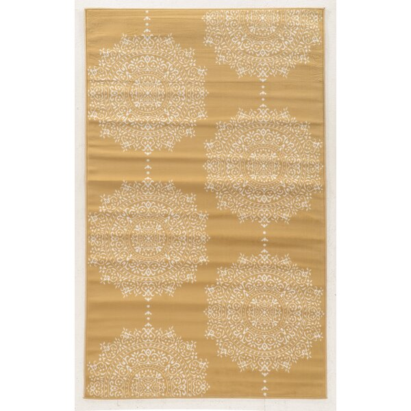 Zurita Beige Area Rug by Bungalow Rose