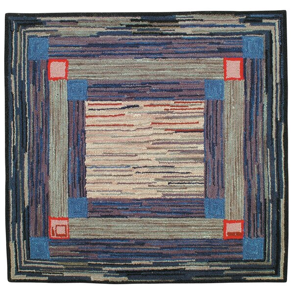Jenette Hand Tufted Wool Blue Area Rug by Red Barrel Studio