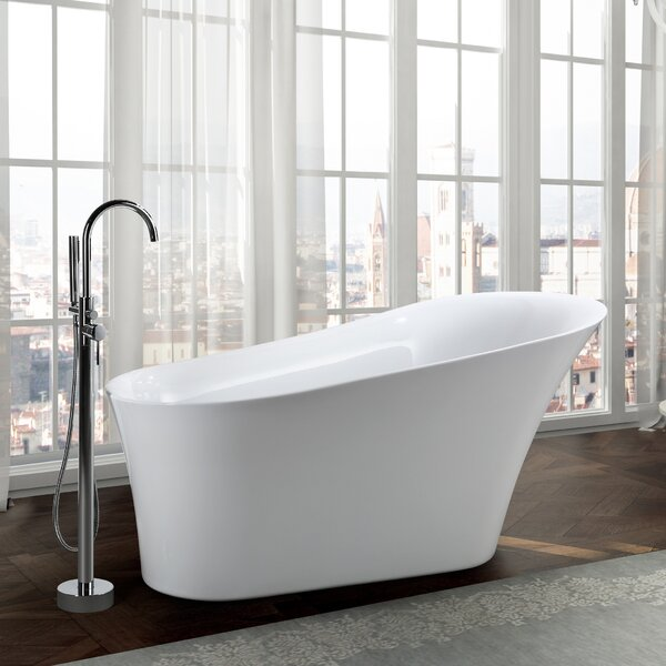 Arezzo 67 x 32 Freestanding Soaking Bathtub by Bellaterra Home