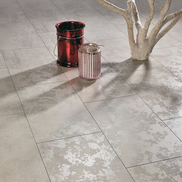 Maxi V5 13 x 51 x 8mm Laminate Flooring in Matte Shine Concrete by ELESGO Floor USA