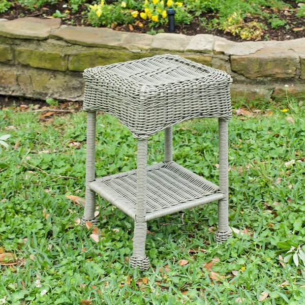 Narron Wicker Side Table by Lark Manor