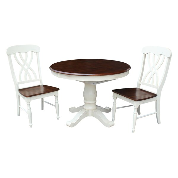 Lewis 3 Piece Dining Set by August Grove