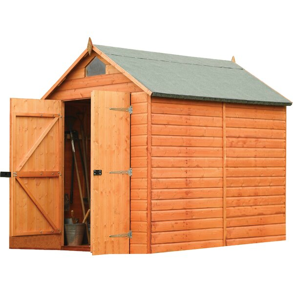 6 ft. 4 in. W x 8 ft. 1 in. D Wooden Storage Shed by Rowlinson