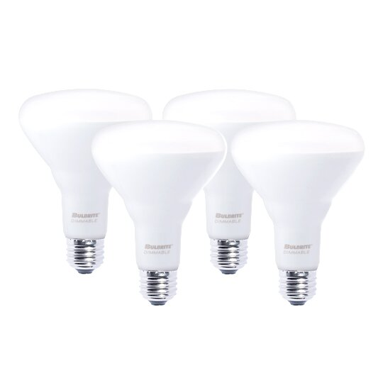 9W E26 Dimmable LED Floodlight Light Bulb Frosted (Set of 4) by Bulbrite Industries