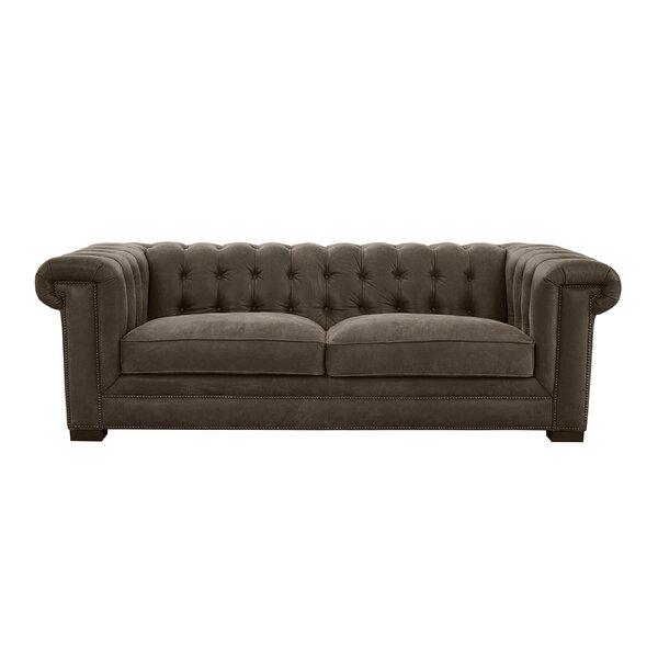 Borba Leather Sofa By Canora Grey