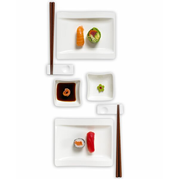 New Wave Sushi 8 Piece Dinnerware Set, Service for 2 by Villeroy & Boch