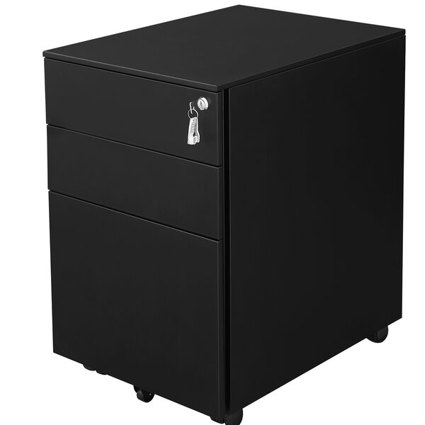 Sidwell Steel 3-Drawer Mobile Vertical Filing Cabinet