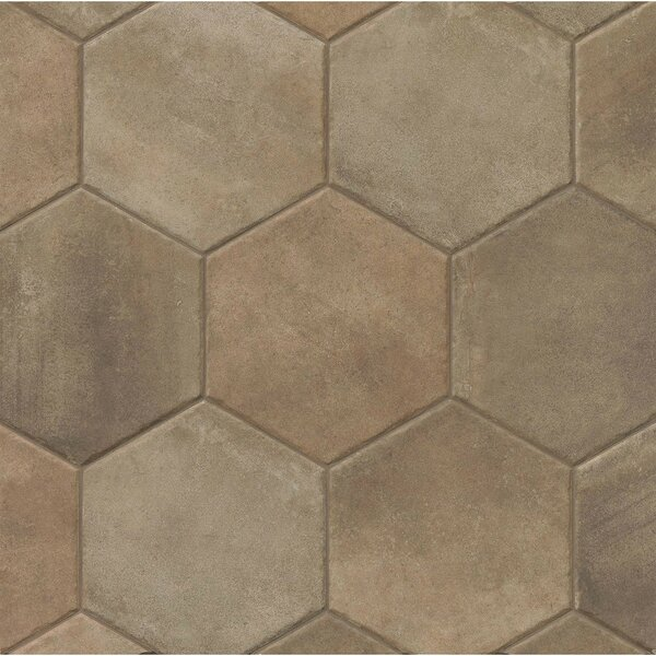 Tribal 13.5 x 13.5 Porcelain Hexagon Tile in Dark by Grayson Martin