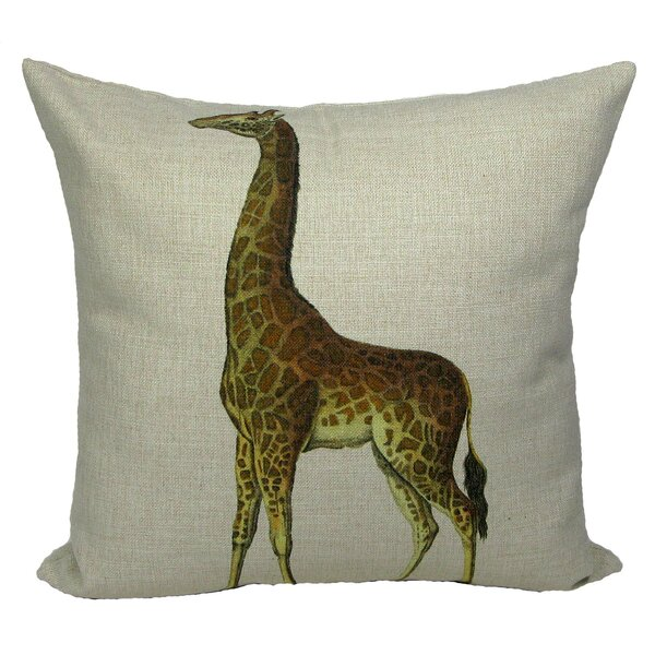 Giraffe Pillow Cover by Golden Hill Studio
