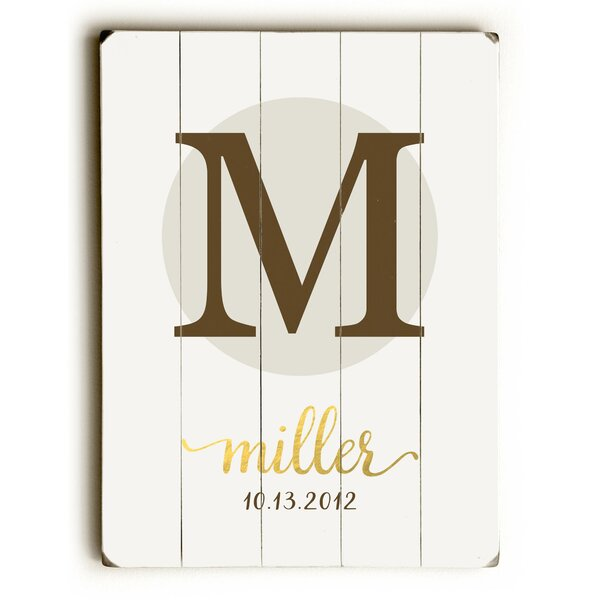 Personalized Classic Textual Art on Wood by The Holiday Aisle