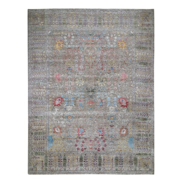 One-of-a-Kind Hand-Knotted Gray 12' x 14'10 Area Rug