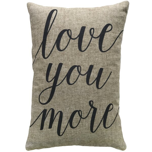 Mcatee Love You More Linen Throw Pillow by Gracie Oaks