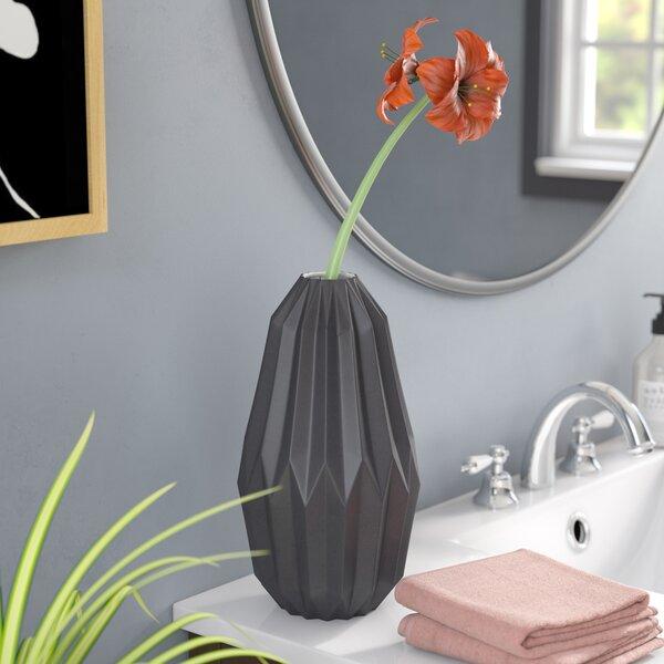 Besser Ceramic Fluted Vase by Langley Street