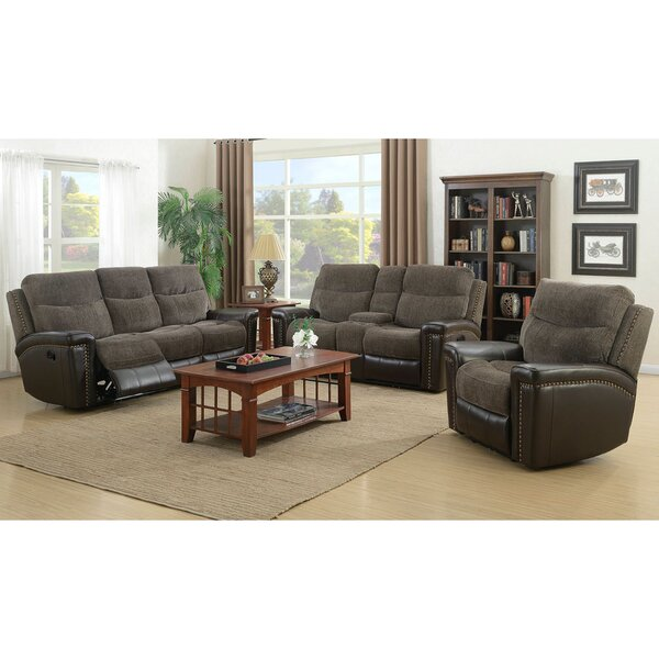 Deniece Reclining 3 Piece Living Room Set by Red Barrel Studio