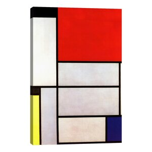 Tableau l, 1921 by Piet Mondrian Graphic Art on Wrapped Canvas by iCanvas