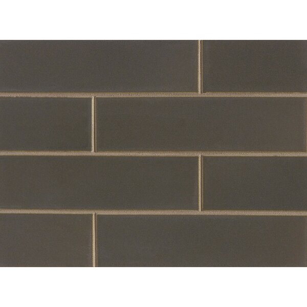 Reverie 2.5 x 9 Porcelain Subway Tile in Matte Brown by Grayson Martin