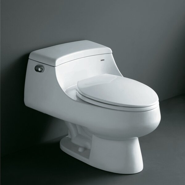 Royal 1.6 GPF Elongated One-Piece Toilet (Seat Included) by Ariel Bath