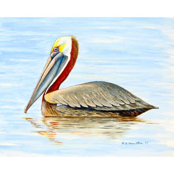Summer Pelican 18 Placemat (Set of 4) by Betsy Drake Interiors
