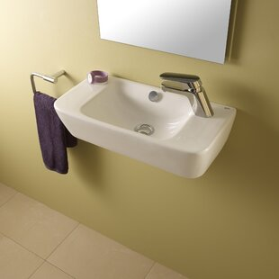Reviews Emma Ceramic 20 Wall Mount Bathroom Sink with Overflow By Bissonnet