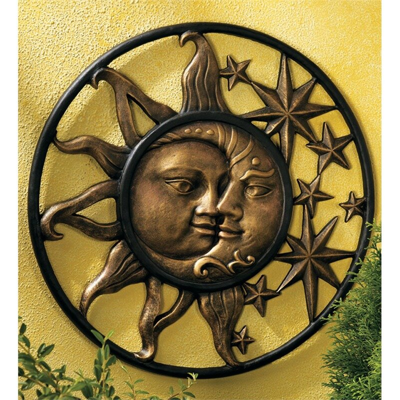Sun and moon wall decor