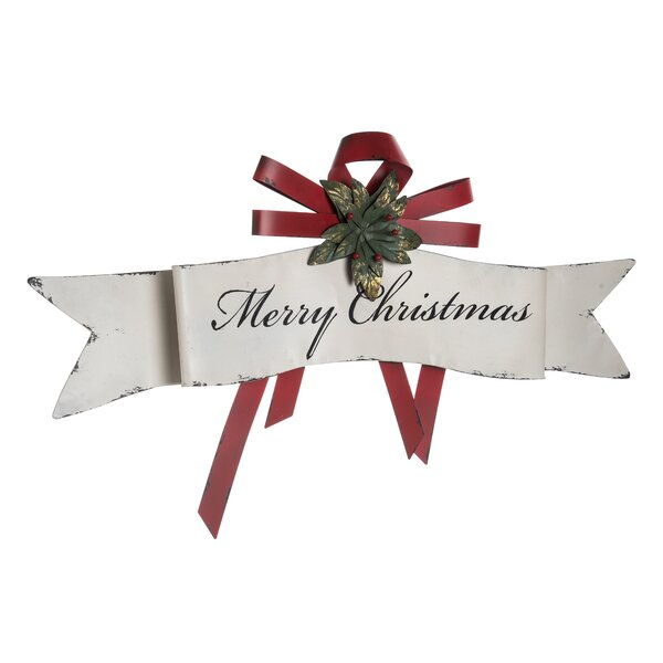 Metal Merry Christmas Banner Wall Décor by The Holiday Aisle