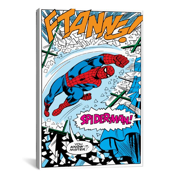 Marvel Comics Spider-Man Panel B Graphic Art on Wrapped Canvas by iCanvas