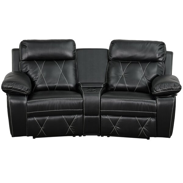 Traditional Faux Leather Home Theater Loveseat By Red Barrel Studio