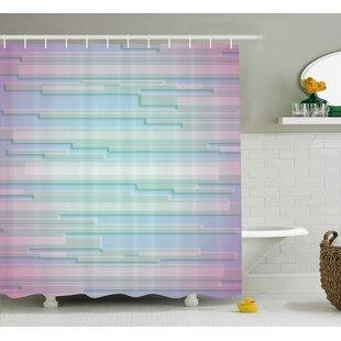 Best Price Enrique Minimal Digital Decor Shower Curtain ByEbern Designs