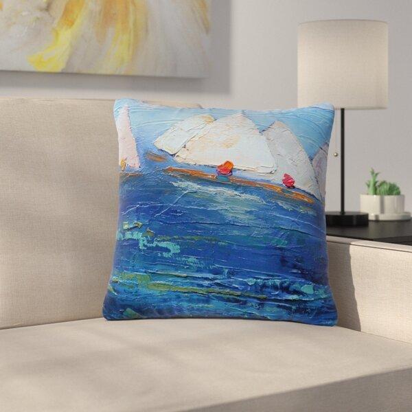 Carol Schiff Swirls Outdoor Throw Pillow by East Urban Home
