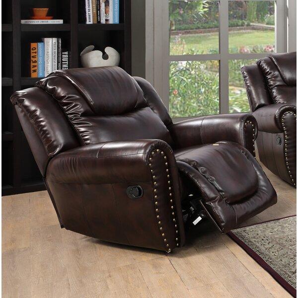 Tabinowski Faux Leather Manual Rocker Recliner W003378929