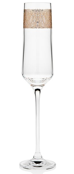 Alyssum 6 Oz. Champagne Flute (Set of 4) by Mint Pantry
