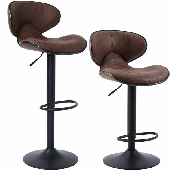 Kimbrell Swivel Adjustable Height Stool (Set of 2) by Williston Forge Williston Forge