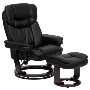Latitude Run Winnols Manual Swivel Recliner with Ottoman Image