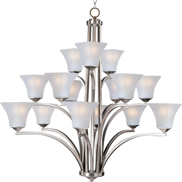 Weedman 15-Light Shaded Tiered Chandelier By Charlton Home