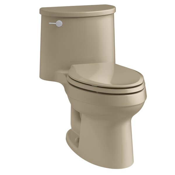 Adair One-Piece Elongated 1.28 GPF Toilet with Aquapiston Flush Technology and Left-Hand Trip Lever by Kohler