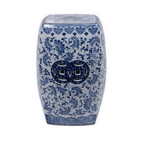 Margherita Ceramic Garden stool by Bloomsbury Market