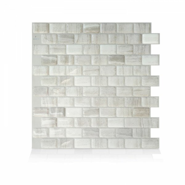 Farro 9.74 x 9.80 Peel & Stick Mosaic Tile in Beig