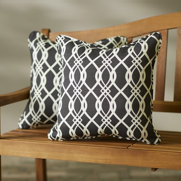 Byron Wavy Indoor/Outdoor Throw Pillow (Set of 2) by Darby Home Co