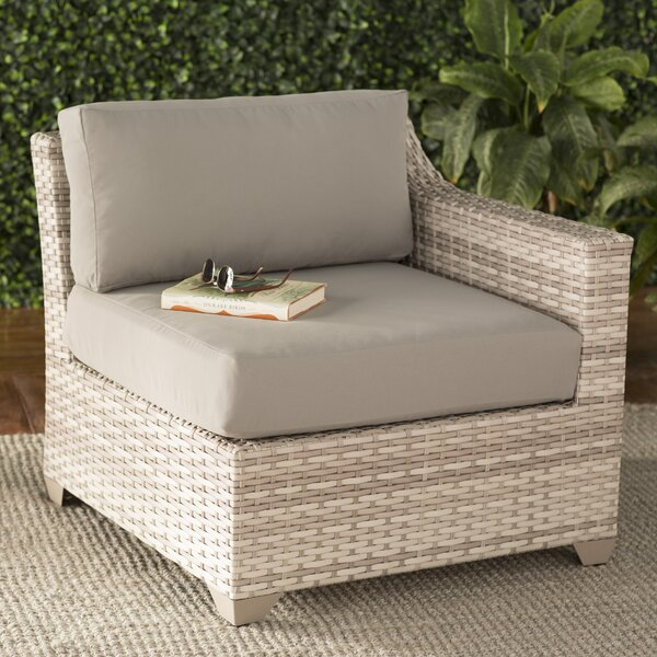 Ansonia Left Arm Patio Chair with Cushions by Rosecliff Heights