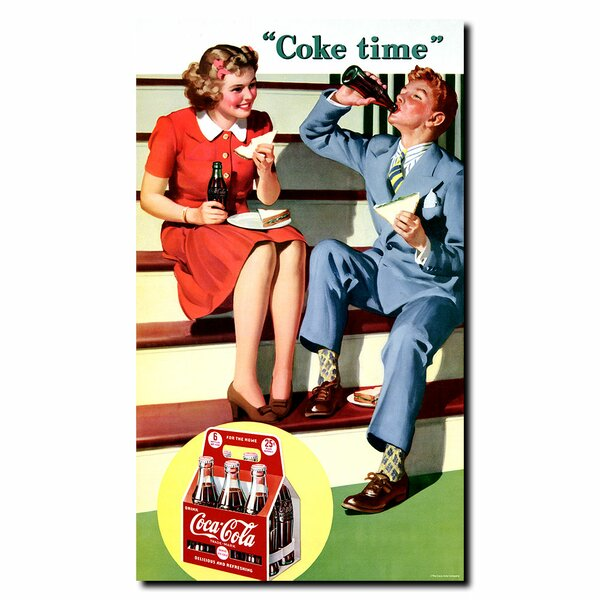 Coke Time Vintage Advertisement on Wrapped Canvas by Trademark Fine Art