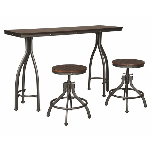 Yvette 3 Piece Adjustable Pub Table Set by Trent Austin Design