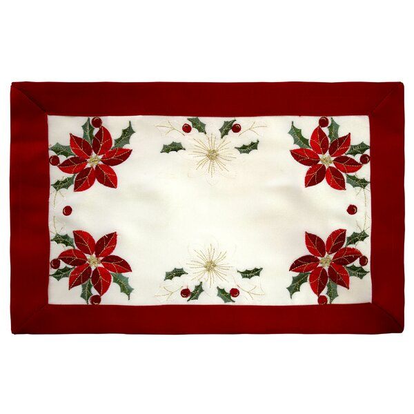 Holiday Embroidered Cloth Placemat (Set of 4) by Window Elements