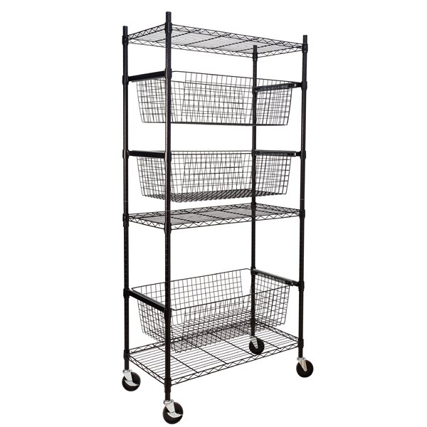 74.5 H x 35.71 W Sports Equipment Storage Shelving Unit by Honey Can Do