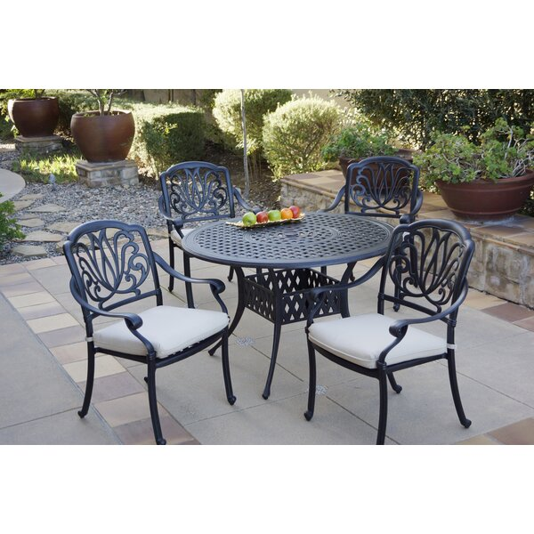 Bui 5 Piece Dining Set with Cushions by Canora Grey