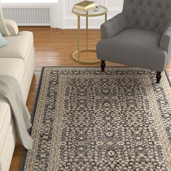 Lang Machine Woven Gray Area Rug by Astoria Grand