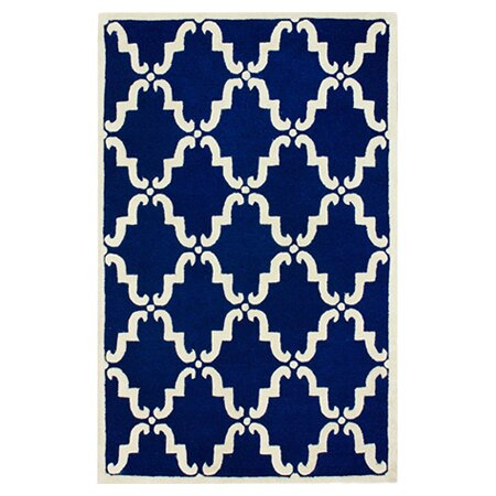 Serena Hand-Tufted Wool Blue Area Rug by nuLOOM