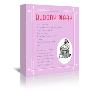 'Cocktail Bloody Mary' by Indigo Sage Vintage Advertisement on Wrapped Canvas by East Urban Home